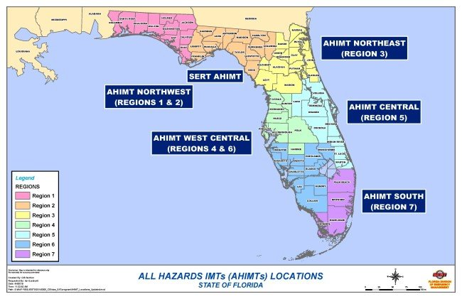 All Hazards IMTs Locations Florida